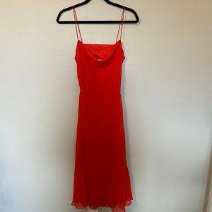 Finders Keepers Satin Drape Neck Dress Spag. Strap